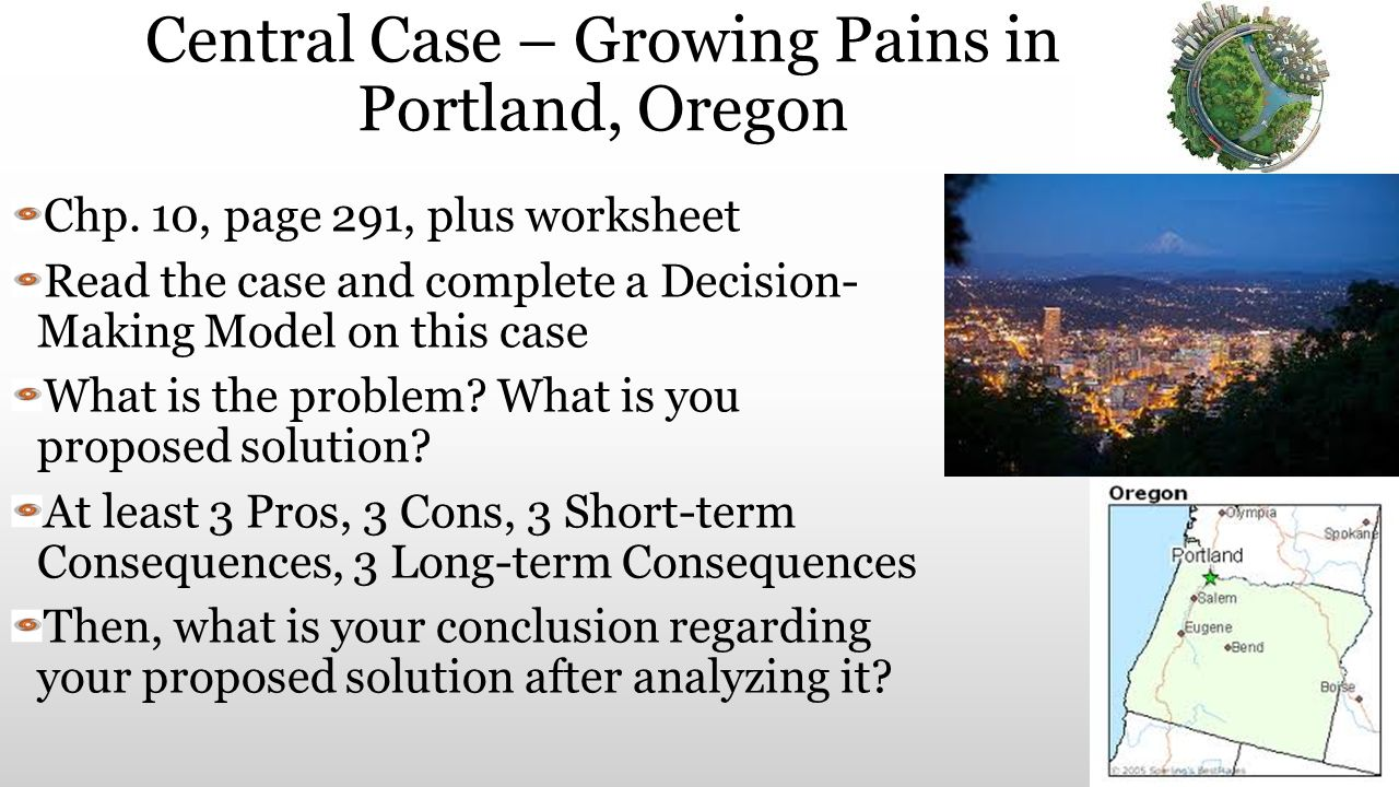 Central Case – Growing Pains in Portland, Oregon