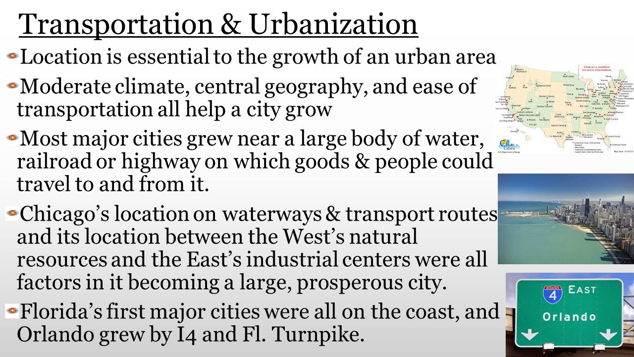 Transportation & Urbanization