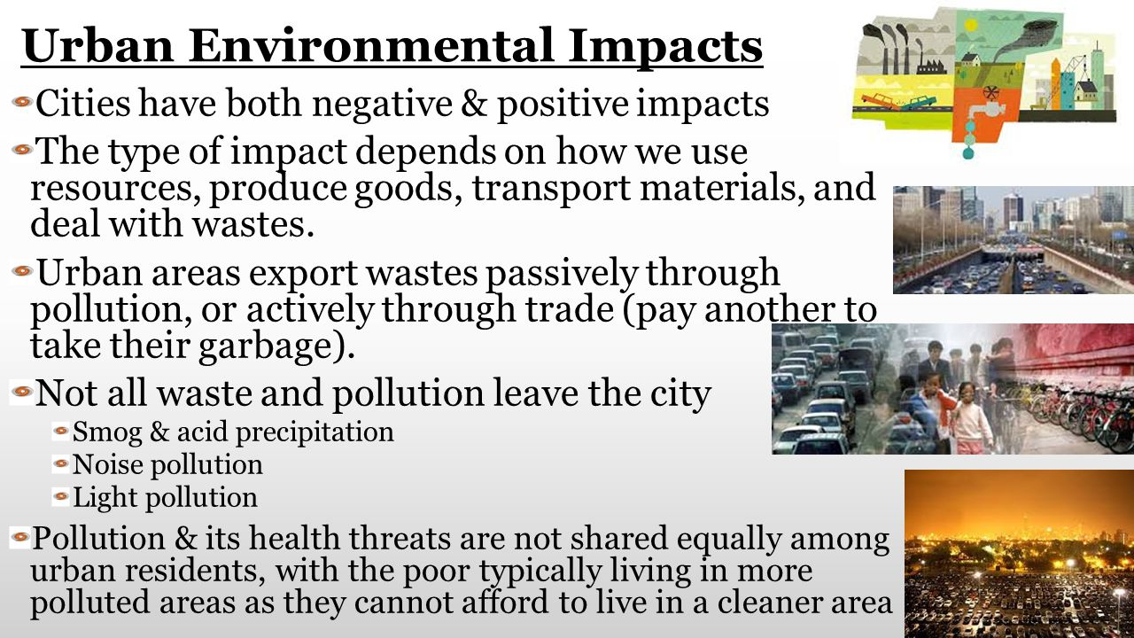Urban Environmental Impacts