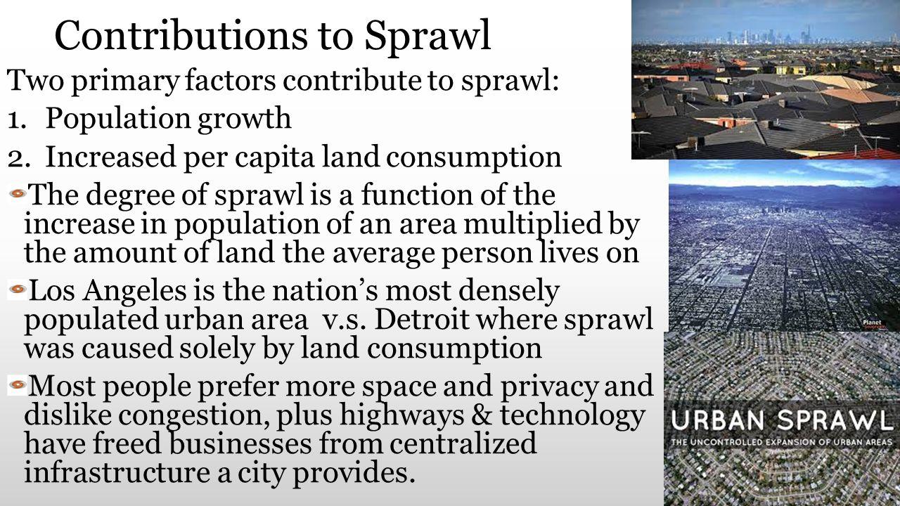 Contributions to Sprawl