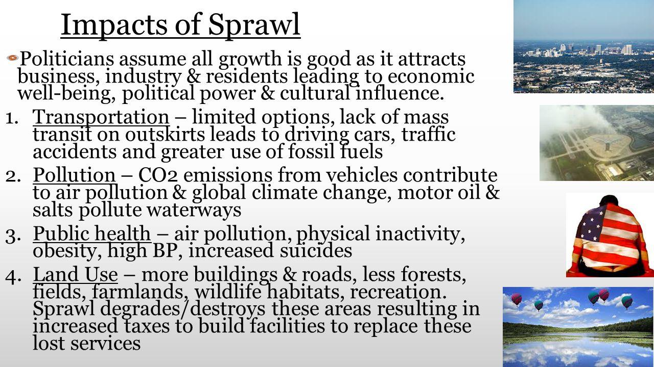 Impacts of Sprawl