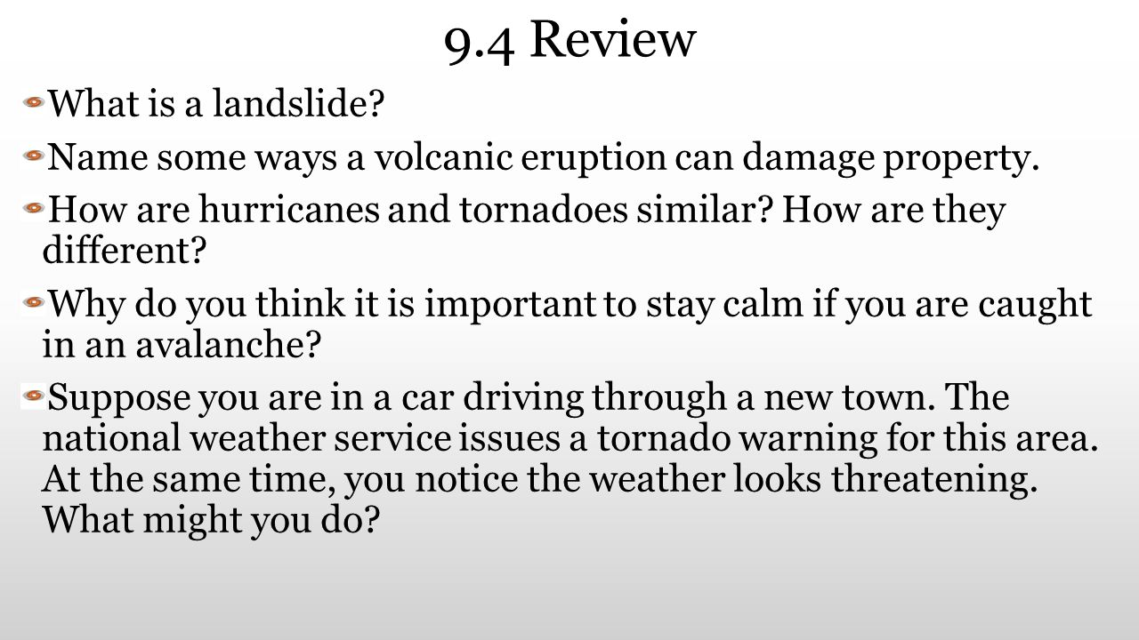 9.4 Review What is a landslide