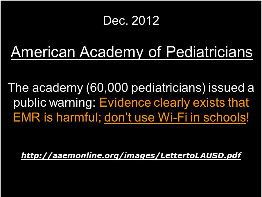 American Academy of Pediatricians