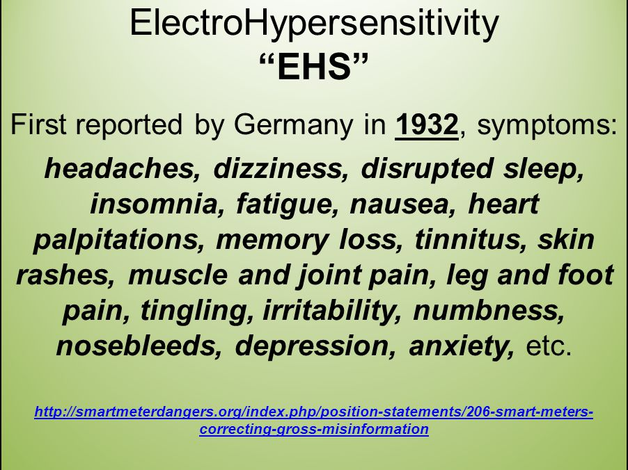 ElectroHypersensitivity EHS