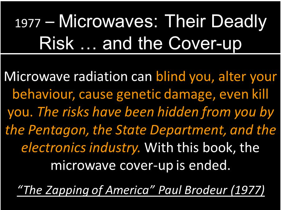 1977 – Microwaves: Their Deadly Risk … and the Cover-up