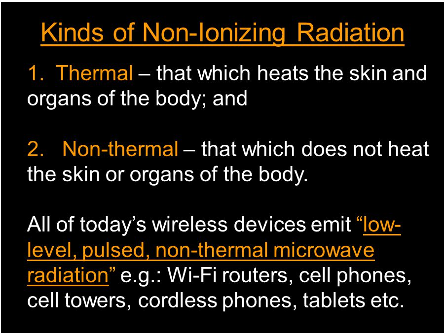 Kinds of Non-Ionizing Radiation