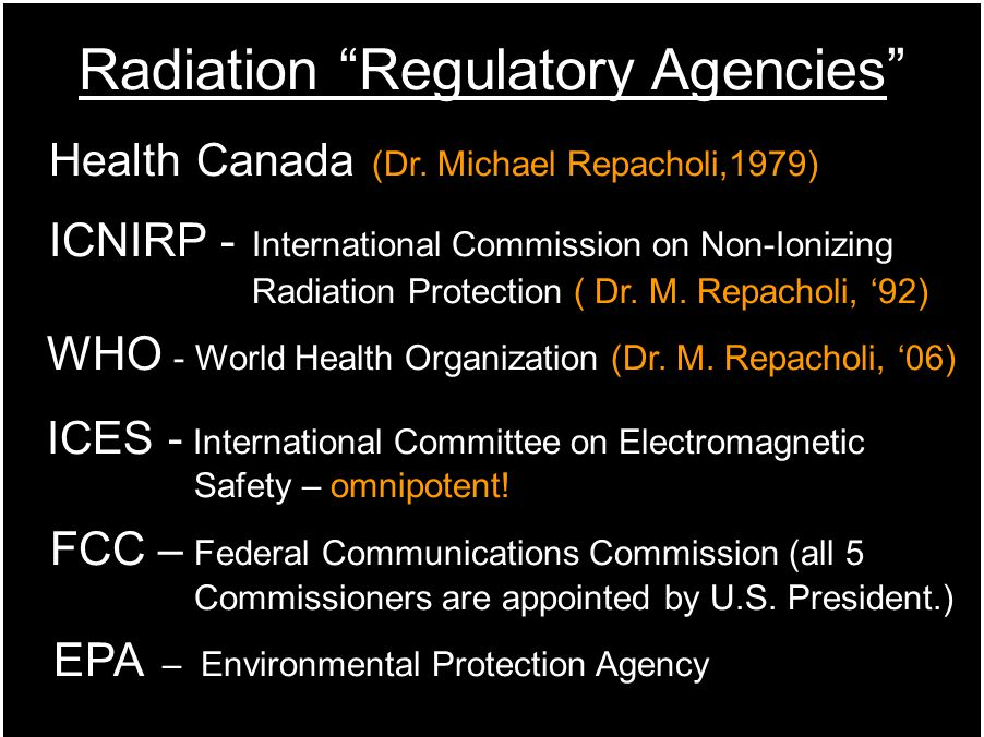 Radiation Regulatory Agencies