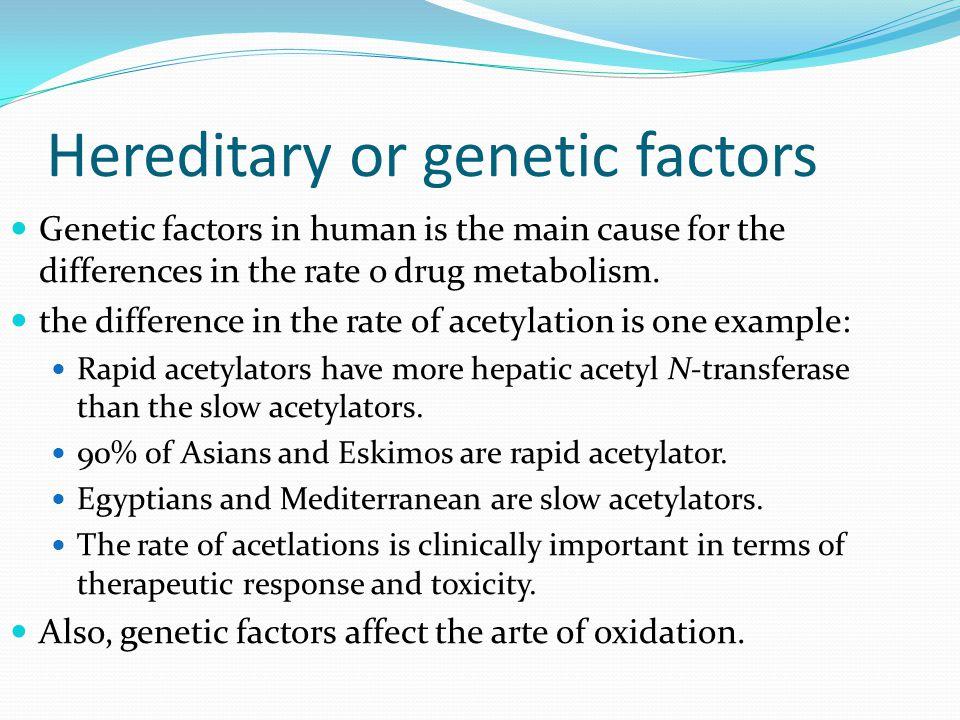 Hereditary or genetic factors