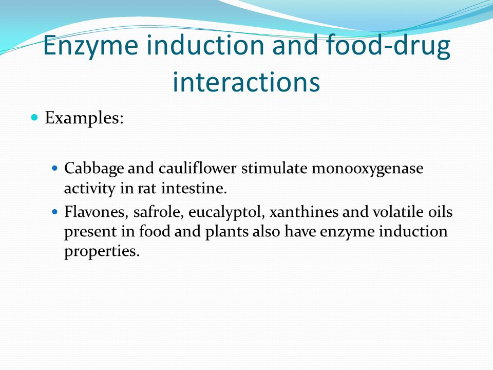 Enzyme induction and food-drug interactions