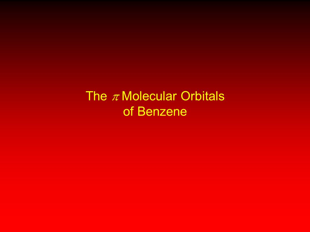 The  Molecular Orbitals of Benzene