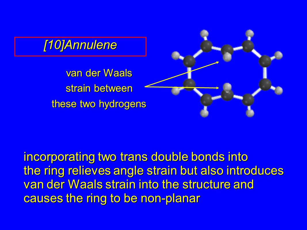 van der Waals strain between these two hydrogens