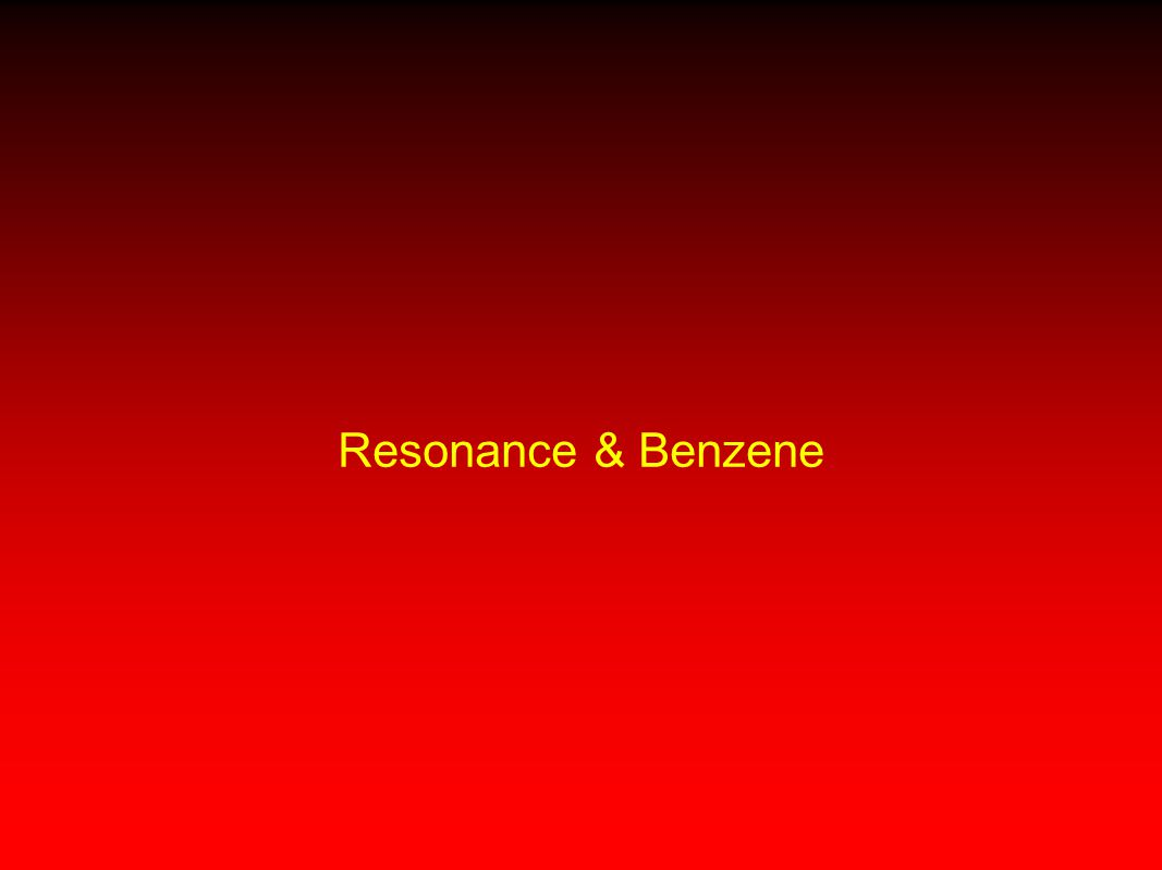 Resonance & Benzene 5