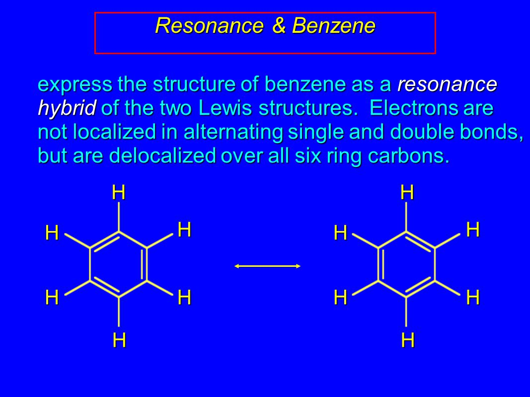 Resonance & Benzene