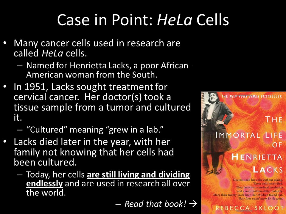 Case in Point: HeLa Cells