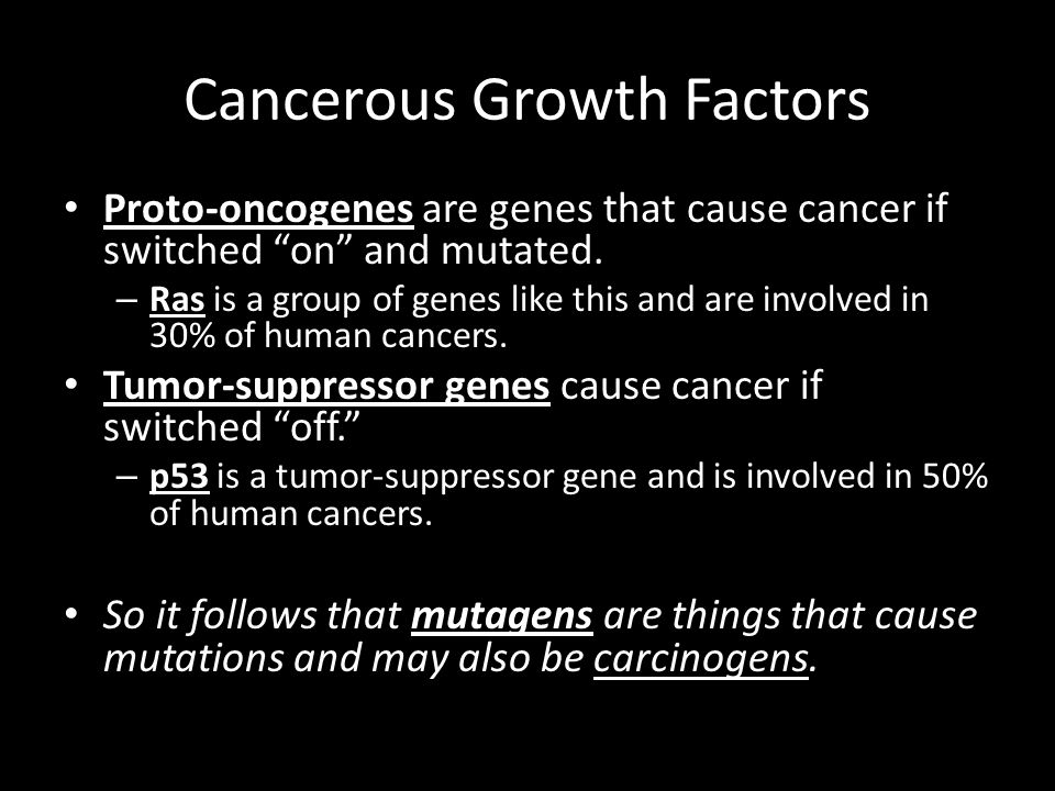 Cancerous Growth Factors
