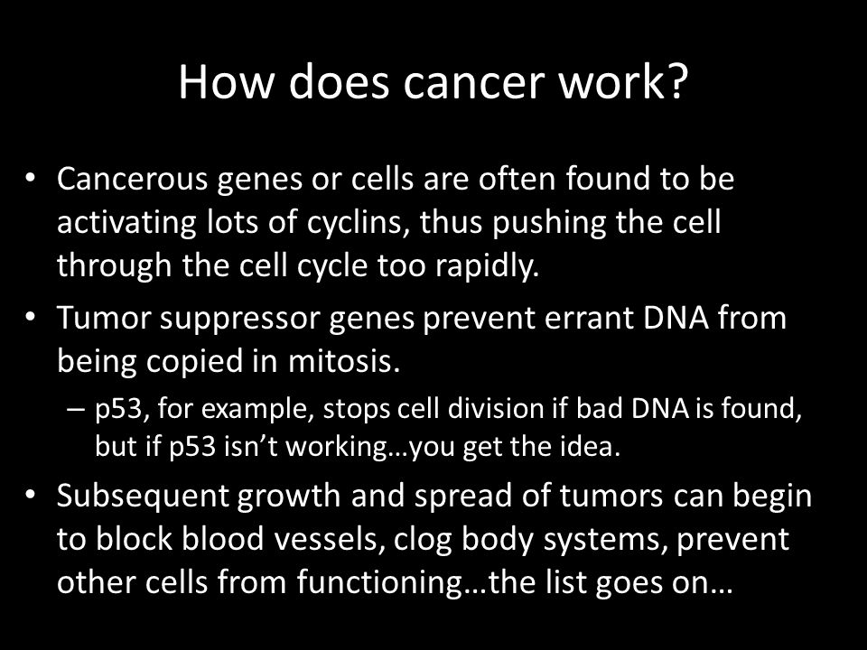 How does cancer work