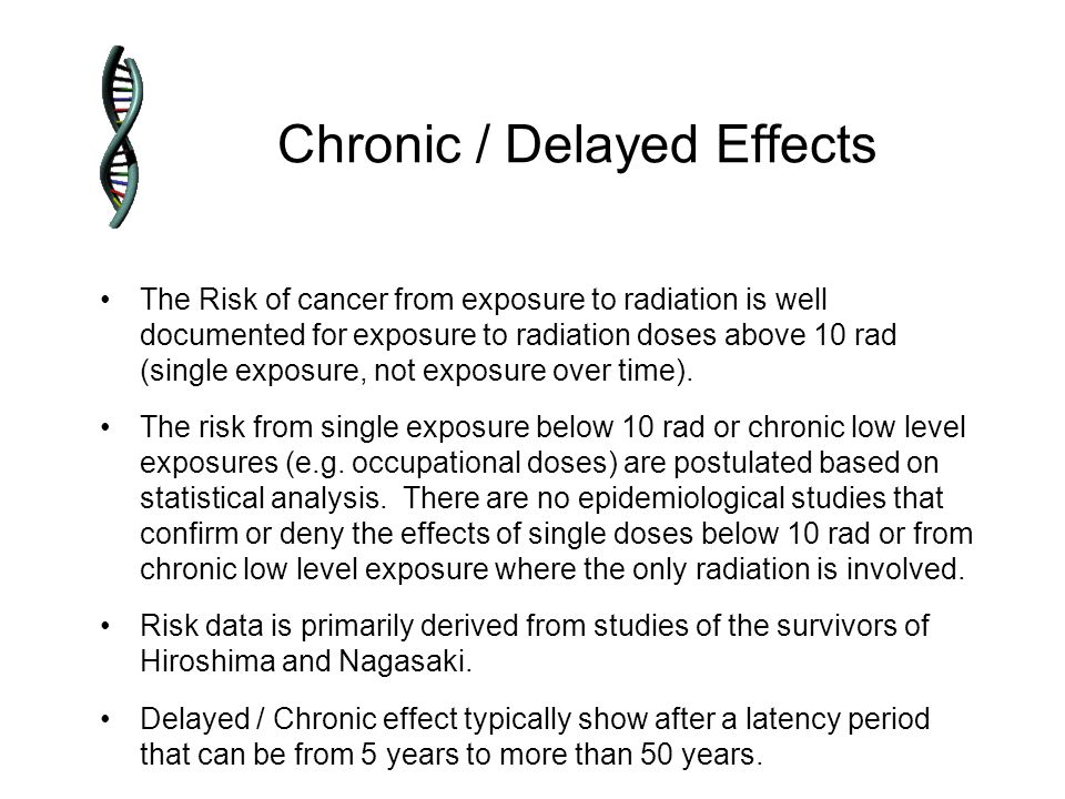 Chronic / Delayed Effects