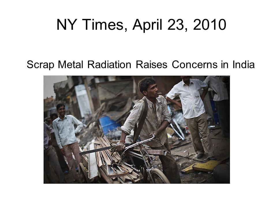 Scrap Metal Radiation Raises Concerns in India