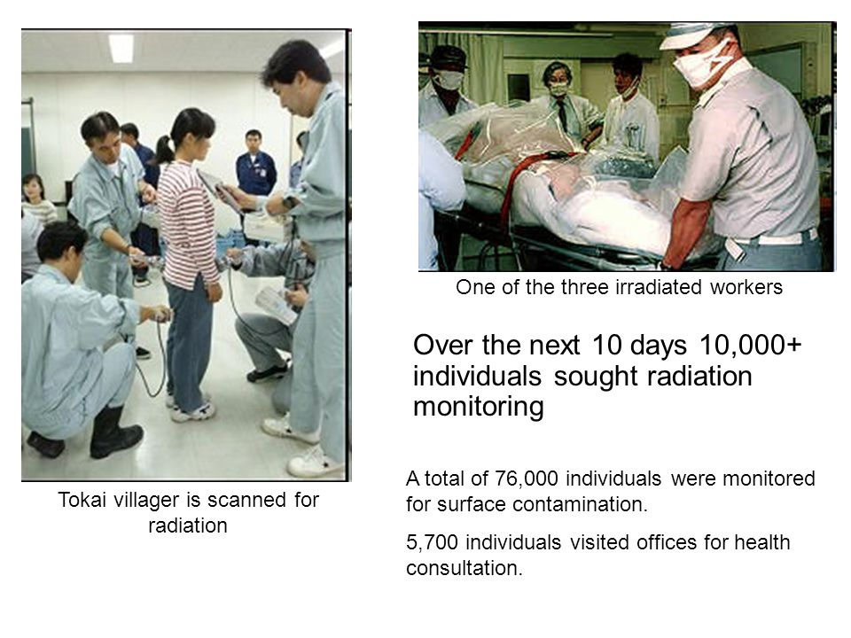Tokai villager is scanned for radiation