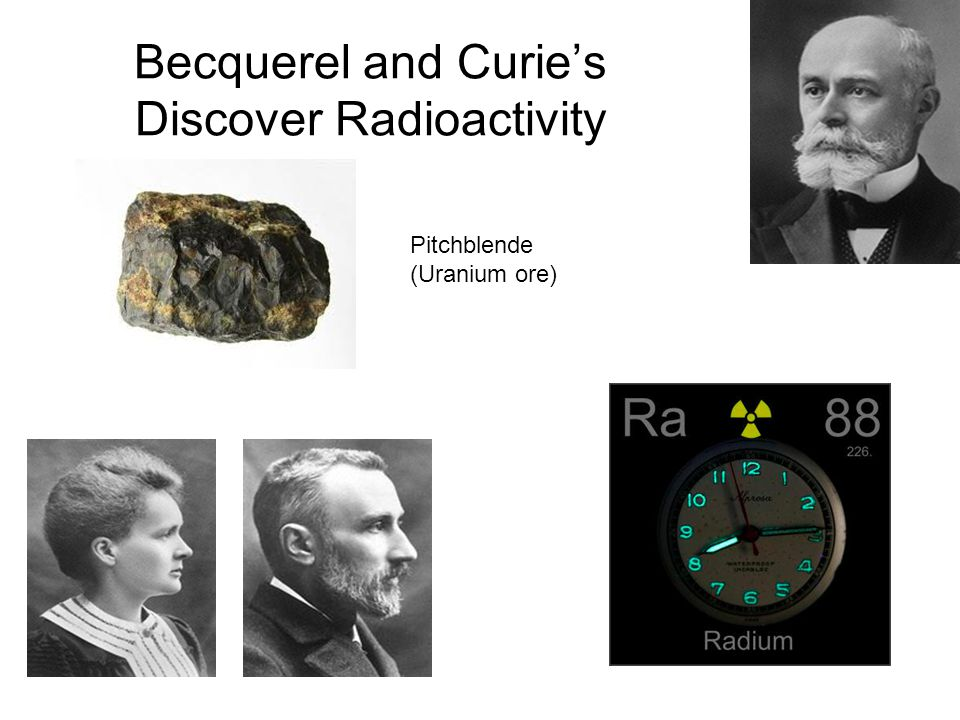 Becquerel and Curie's Discover Radioactivity