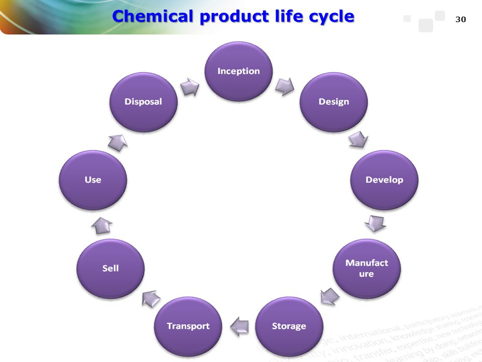 Chemical product life cycle