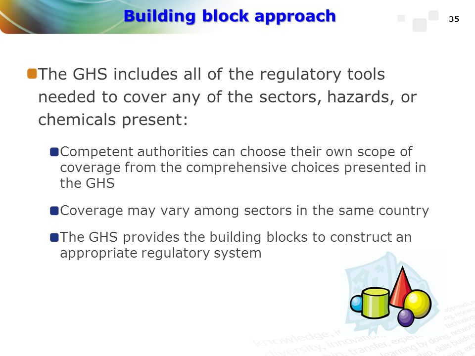 Building block approach