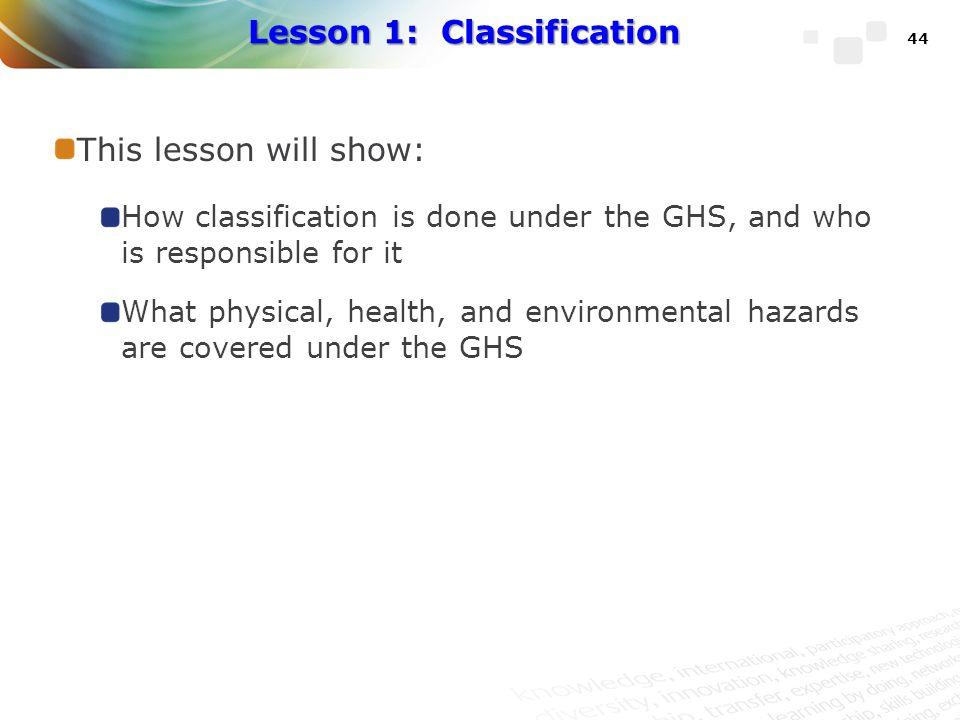 Lesson 1: Classification