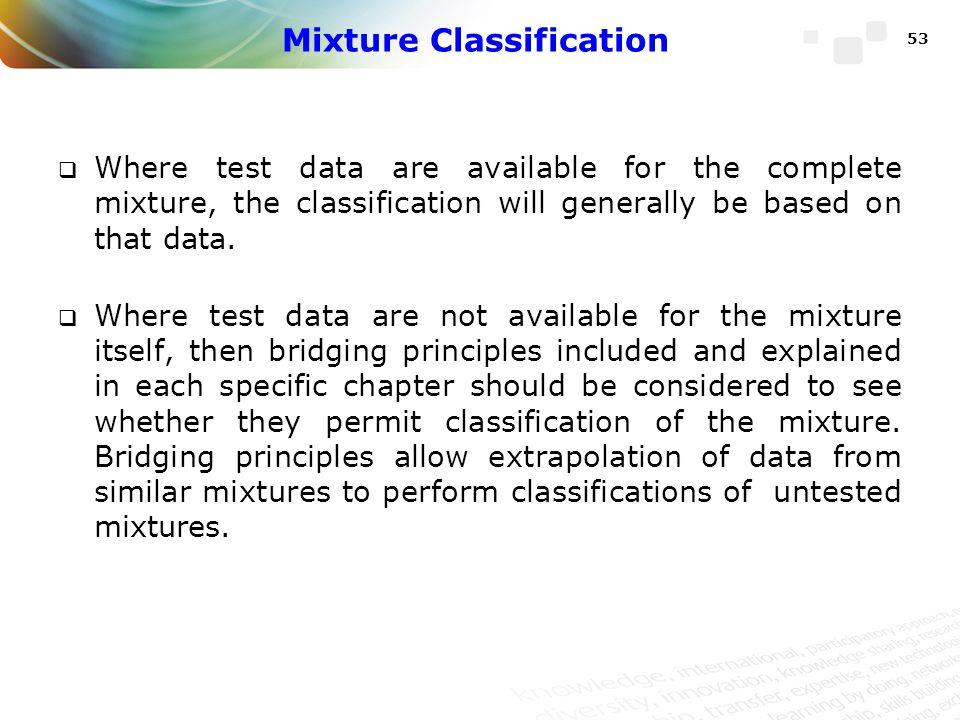 Mixture Classification