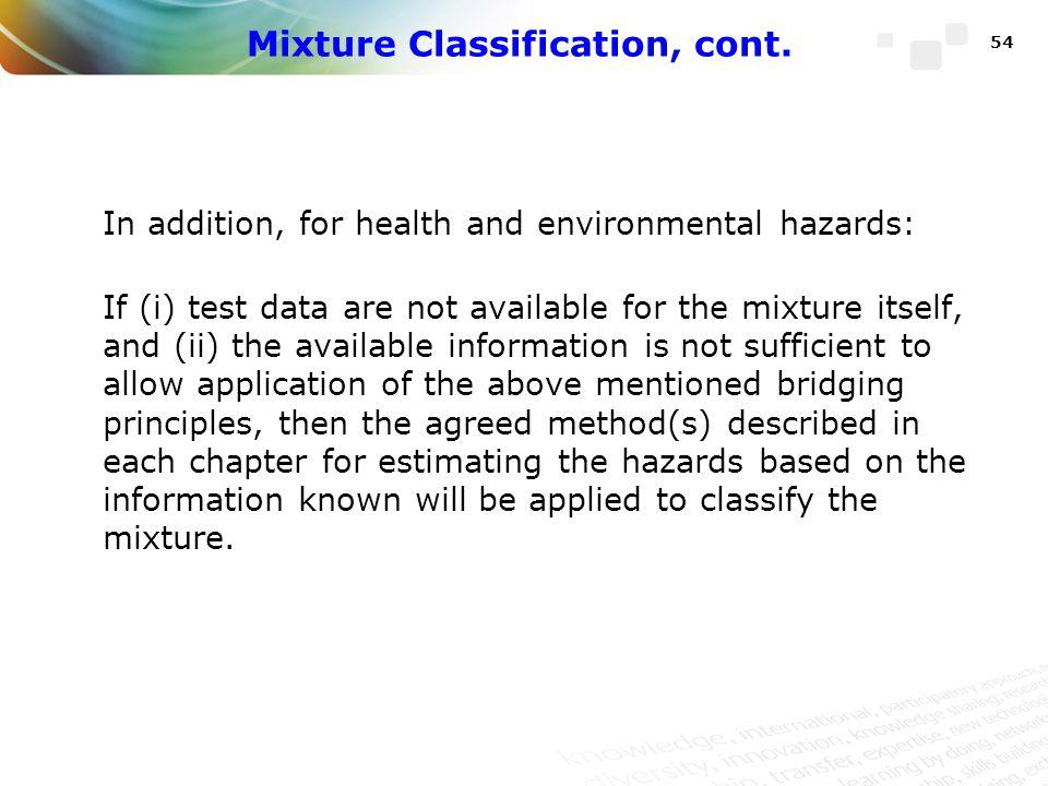 Mixture Classification, cont.