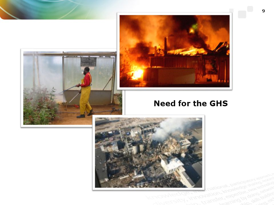 Need for the GHS Development of the GHS was a major undertaking for countries and international organizations.