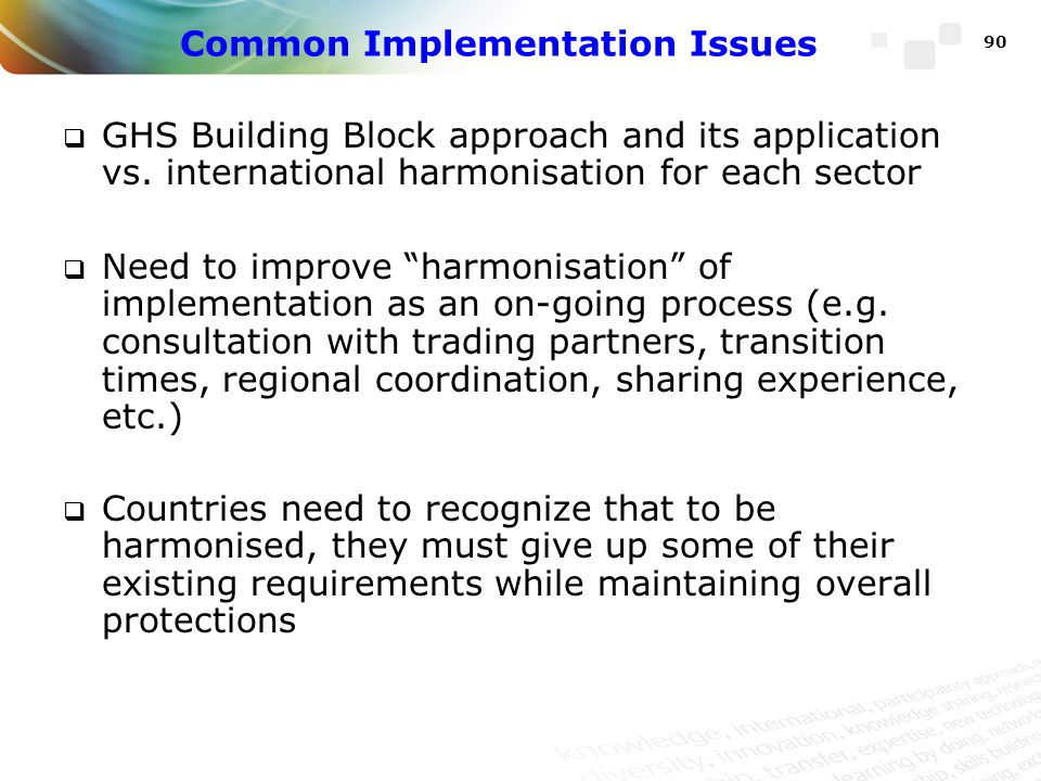 Common Implementation Issues