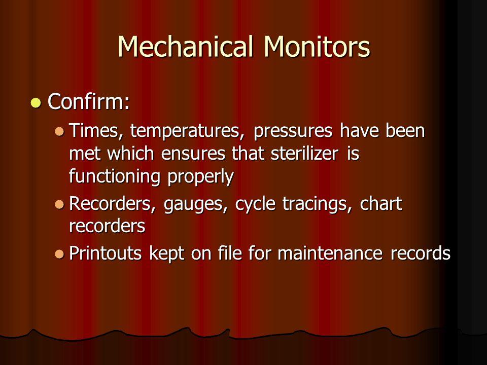 Mechanical Monitors Confirm: