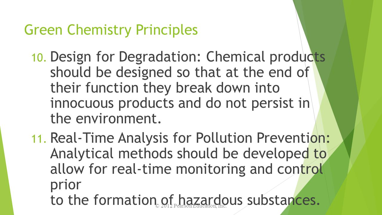 Green Chemistry Principles
