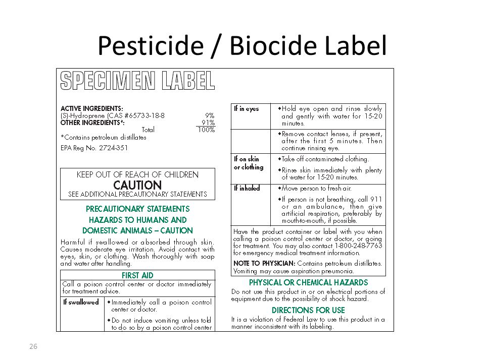 Pesticide / Biocide Label