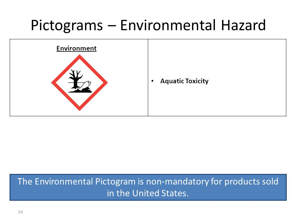 Pictograms – Environmental Hazard