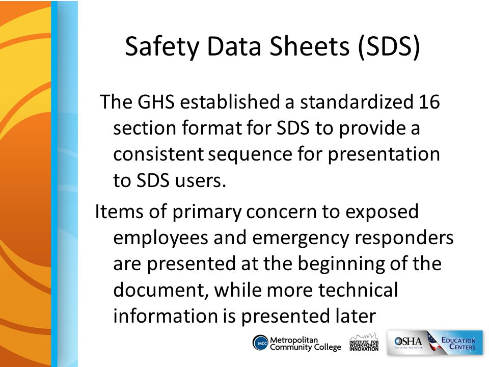 Safety Data Sheets (SDS)