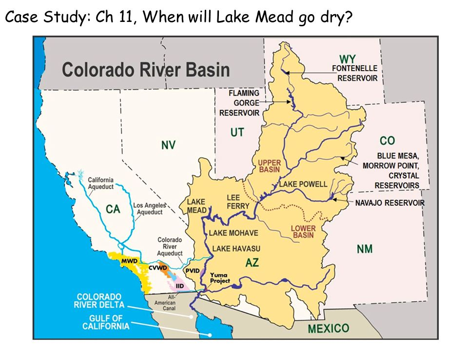 Case Study: Ch 11, When will Lake Mead go dry