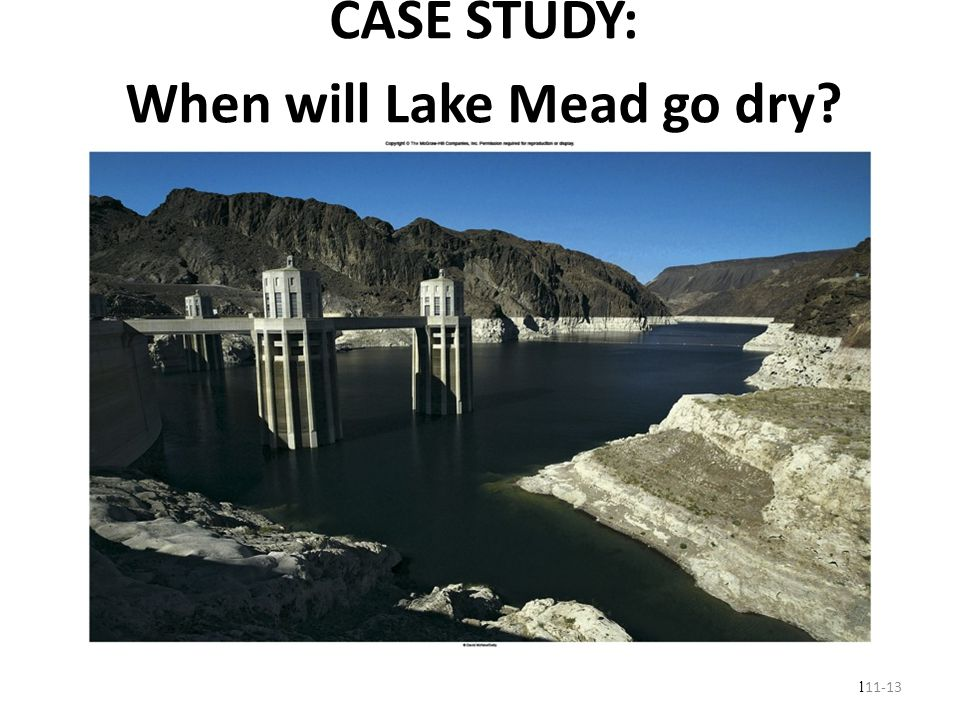 When will Lake Mead go dry