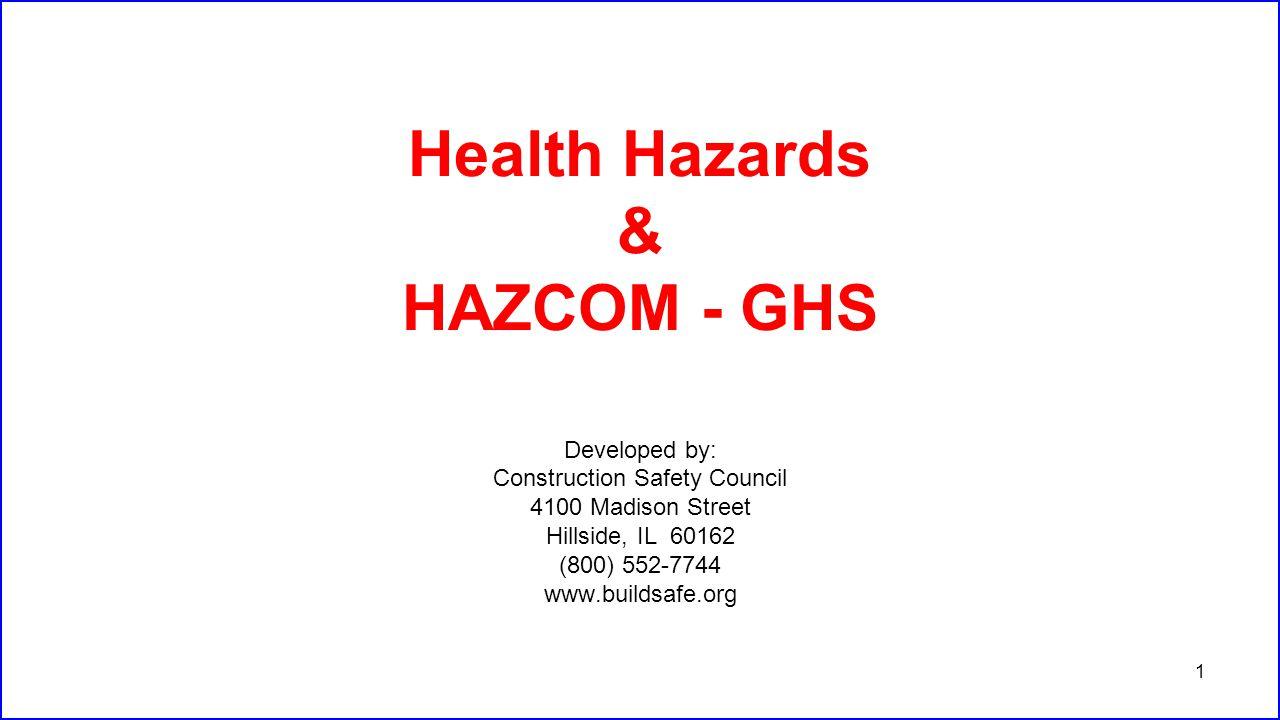Health Hazards & HAZCOM - GHS