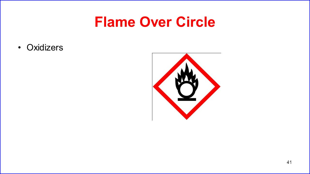 Flame Over Circle Oxidizers
