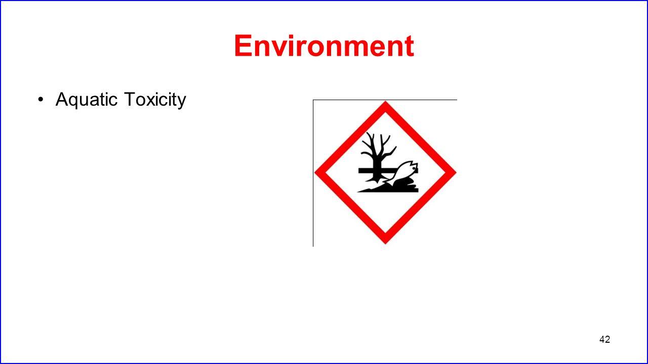 Environment Aquatic Toxicity
