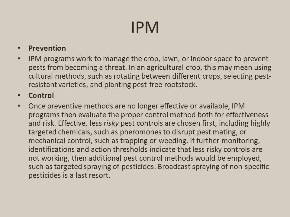 IPM Prevention.