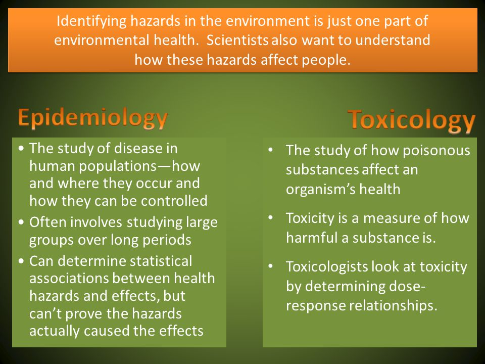 how these hazards affect people.