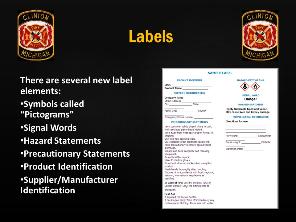 Labels There are several new label elements: