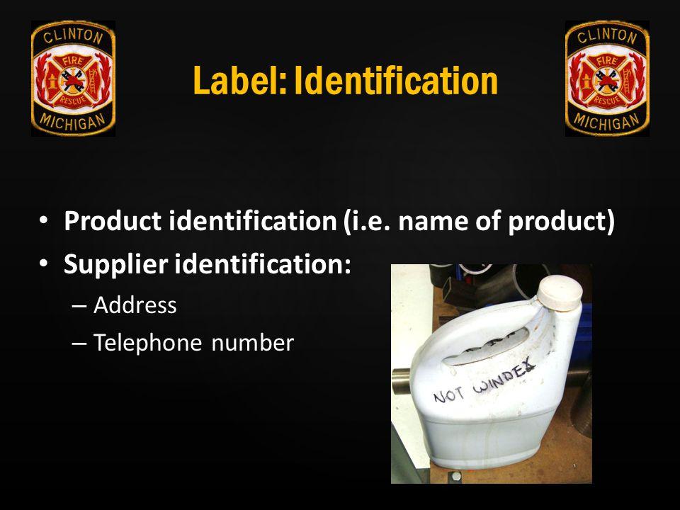 Label: Identification