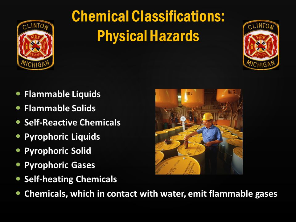 Chemical Classifications: Physical Hazards