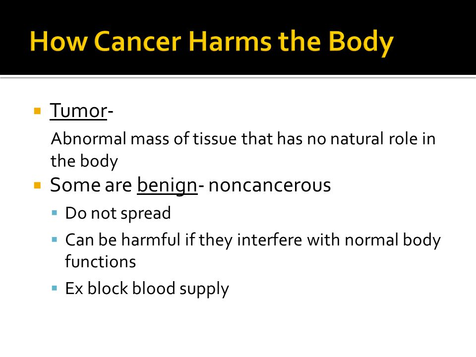 How Cancer Harms the Body