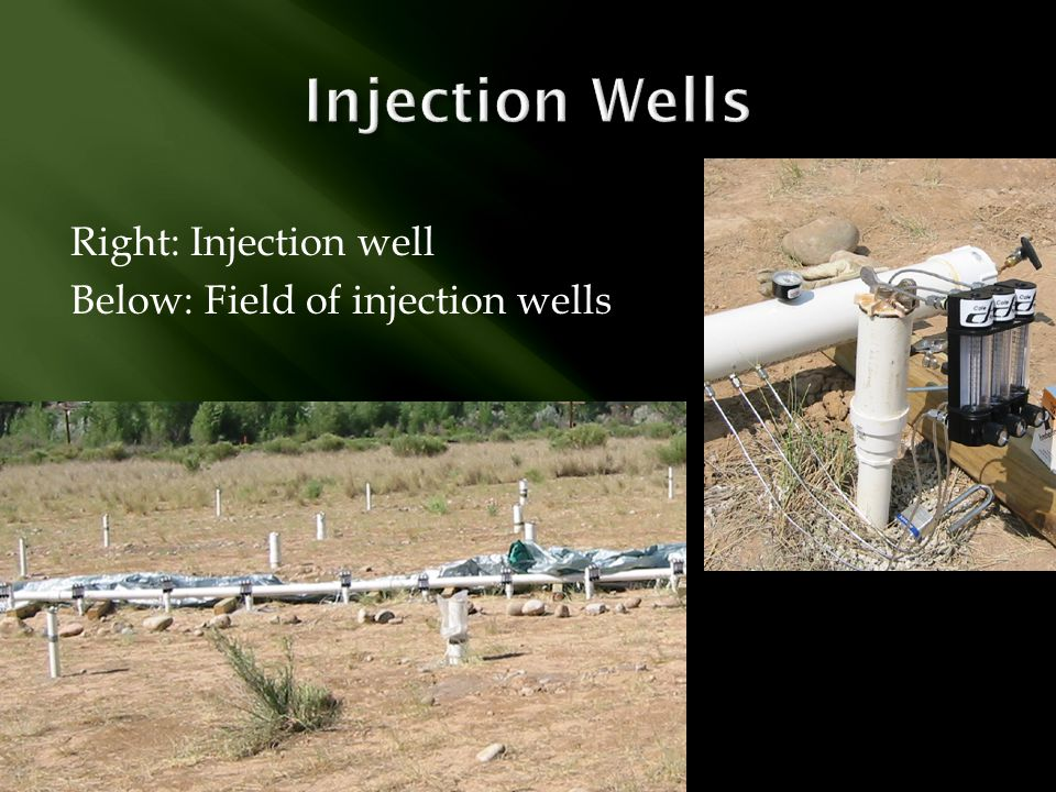 Injection Wells Right: Injection well Below: Field of injection wells