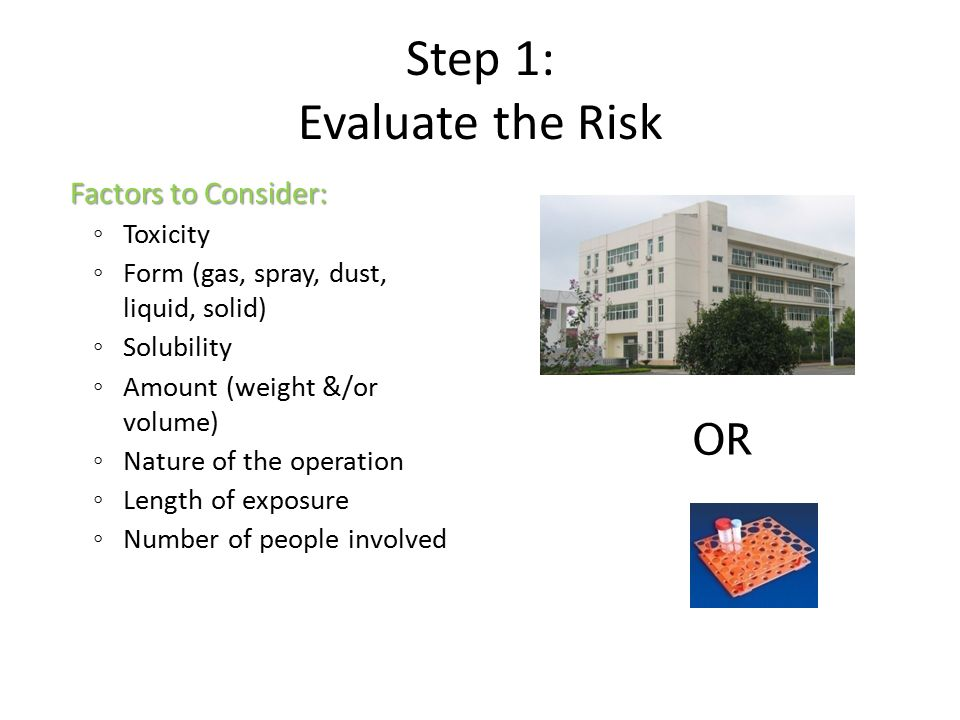 Step 1: Evaluate the Risk