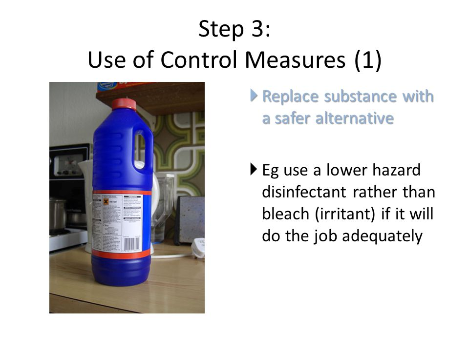 Step 3: Use of Control Measures (1)